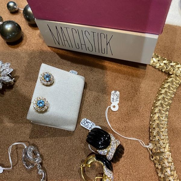 Aquamarine Diamond Earrings in 18ct Gold SHAPIRO & Co since1979 - image 10