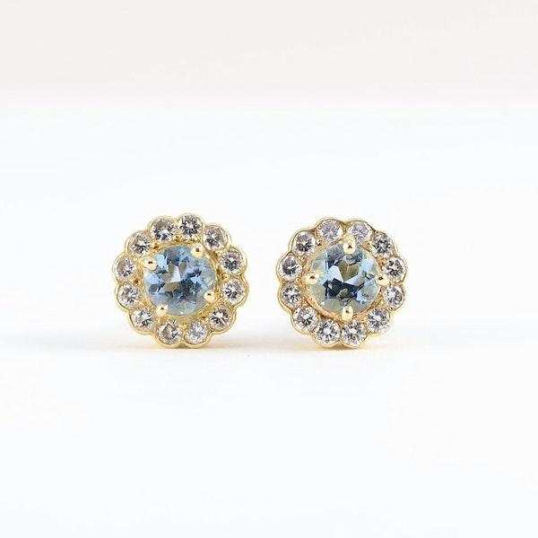 Aquamarine Diamond Earrings in 18ct Gold SHAPIRO & Co since1979 - image 6