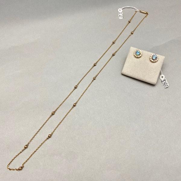 Aquamarine Diamond Earrings in 18ct Gold SHAPIRO & Co since1979 - image 8