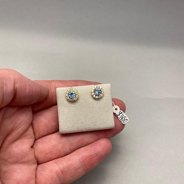 Aquamarine Diamond Earrings in 18ct Gold SHAPIRO & Co since1979 - image 9