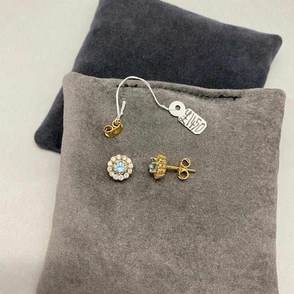 Aquamarine Diamond Earrings in 18ct Gold SHAPIRO & Co since1979 - image 5