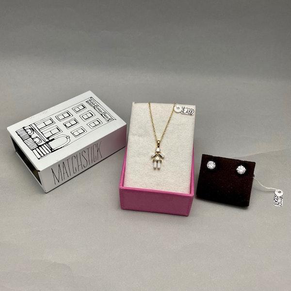 Diamond Matchstick Pendant in 18ct Gold date circa 2012, SHAPIRO & Co since1979 - image 7