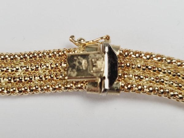 Vintage 18ct gold woven wave collar necklace sku 4964  DBGEMS - image 2
