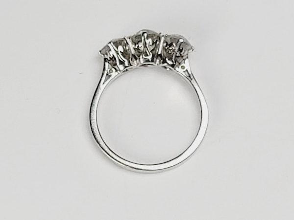 Antique Art deco old cut diamond three stone ring sku 4963  DBGEMS - image 3