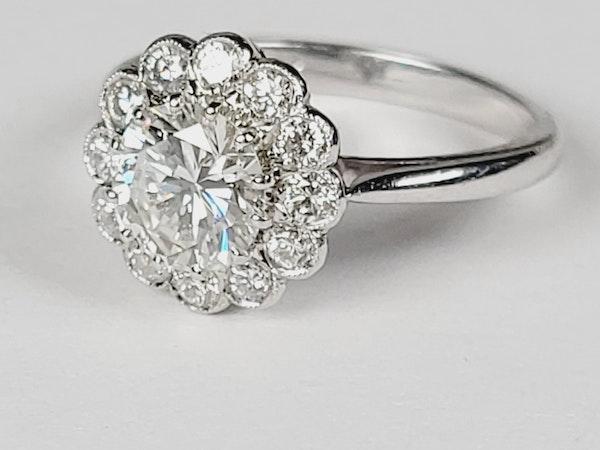 Diamond halo engagement ring sku 4965  DBGEMS - image 2