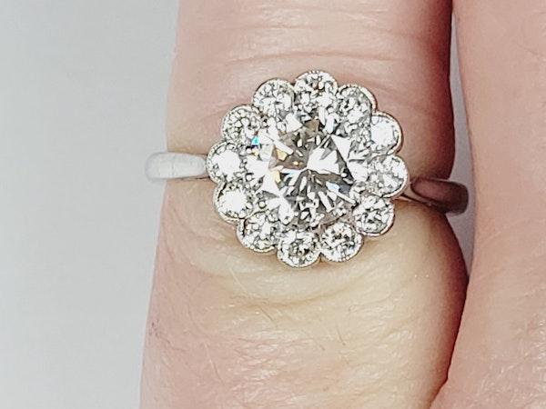 Diamond halo engagement ring sku 4965  DBGEMS - image 3