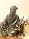 Japanese bronze sculpture of Jurojin and a dear - image 7