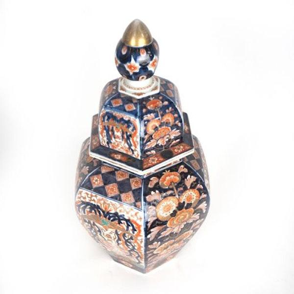 Japanese Imari vase and cover - image 6