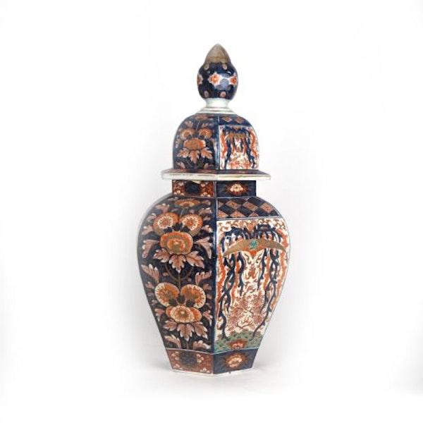 Japanese Imari vase and cover - image 2