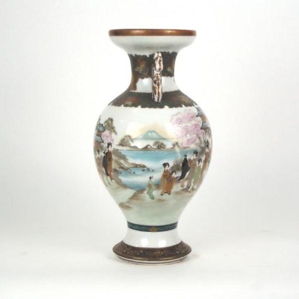 Japanese Kutani vase with decorative ears - image 2