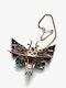 Diamond ruby emerald pearl butterfly brooch/ Pendant. Spectrum - image 3