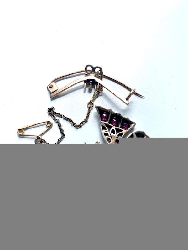 Diamond ruby emerald pearl butterfly brooch/ Pendant. Spectrum - image 4