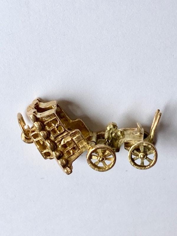 9ct gold fortune teller in opening caravan charm. Sprectrum - image 2