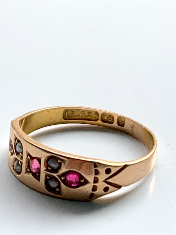 Ruby and pearl Victorian ring. Spectrum - image 2