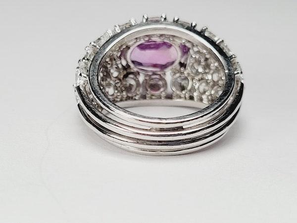 Hot pink sapphire and diamond dress ring sku 4968  DBGEMS - image 3