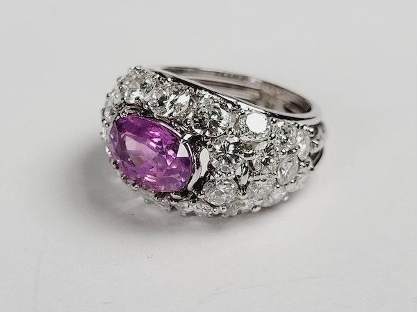 Hot pink sapphire and diamond dress ring sku 4968  DBGEMS - image 2