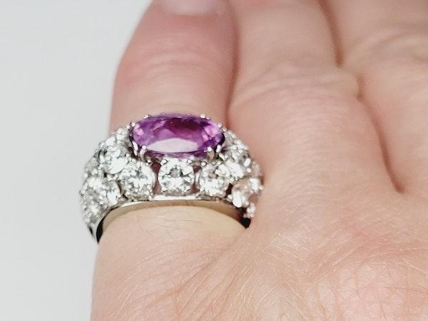 Hot pink sapphire and diamond dress ring sku 4968  DBGEMS - image 6