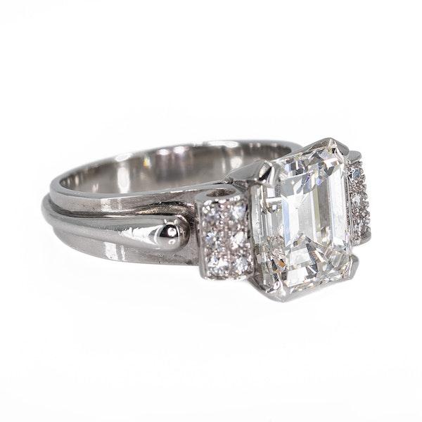 3.3 carat Emerald cut diamond ring - image 2