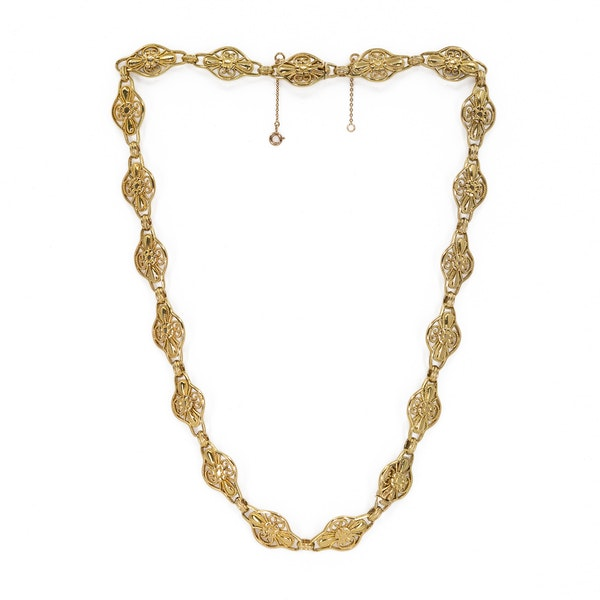 French gold necklace which breaks into a bracelet - image 2