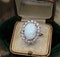 A very fine Opal and Diamond Cluster Ring set in 18ct White Gold, English, Circa 1960 - image 1