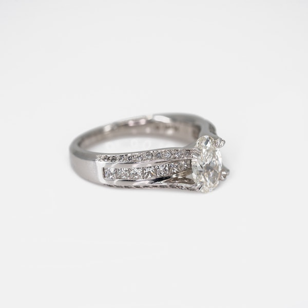 An Unusual Platinum Engagement Ring Offered by The Gilded Lily - image 2