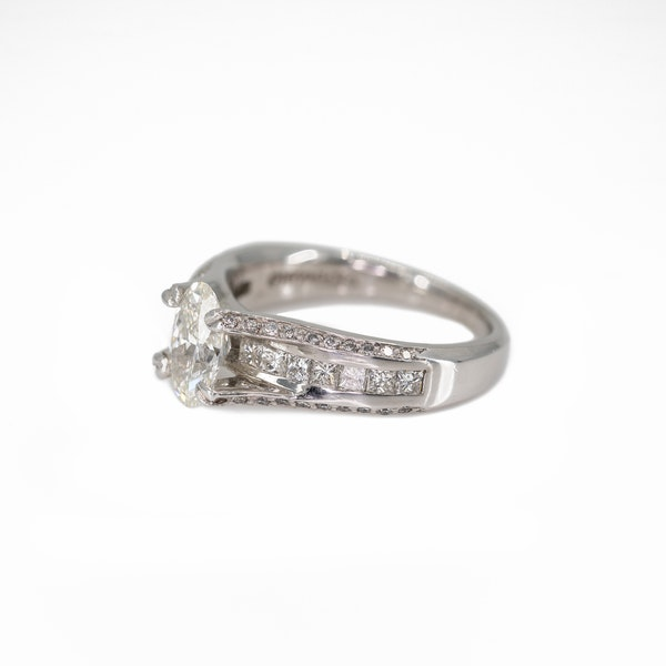 An Unusual Platinum Engagement Ring Offered by The Gilded Lily - image 3