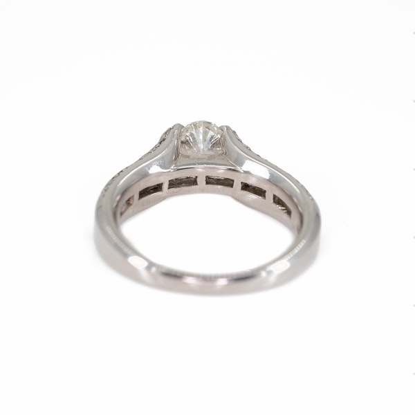 An Unusual Platinum Engagement Ring Offered by The Gilded Lily - image 4