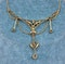 """An exquisite 15ct Yellow Gold Edwardian Aquamarine & Pearl """"Negligee"""" Necklace. Circa 1905 - image 4"""
