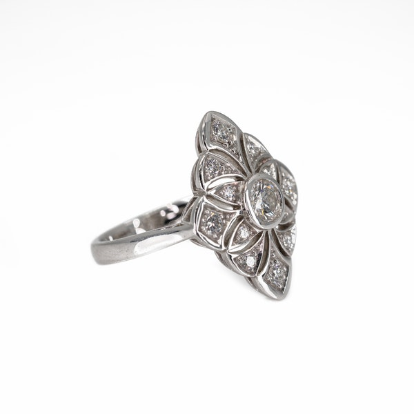 A Pierced Goldwork Diamond Set Ring Offered by The Gilded Lily - image 2