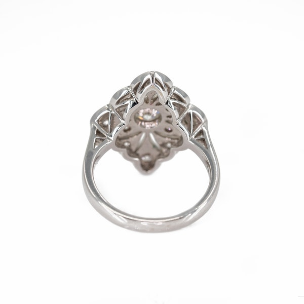 A Pierced Goldwork Diamond Set Ring Offered by The Gilded Lily - image 4