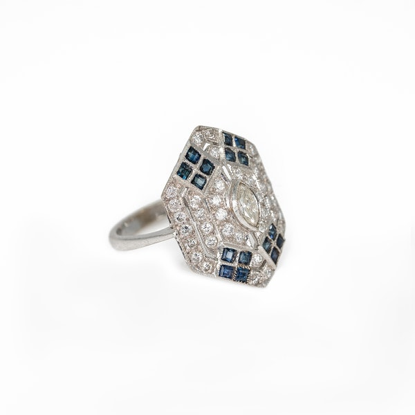 A Pretty Ring of Deco Style Offered by The Gilded Lily - image 2