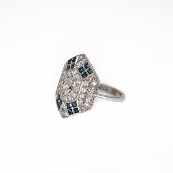 A Pretty Ring of Deco Style Offered by The Gilded Lily - image 3