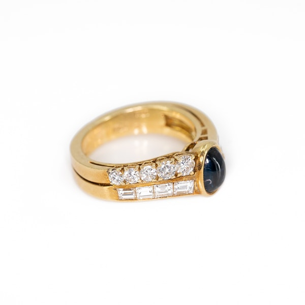 A Sapphire and Diamond Ring by Fred, Paris, Offered by The Gilded Lily - image 2