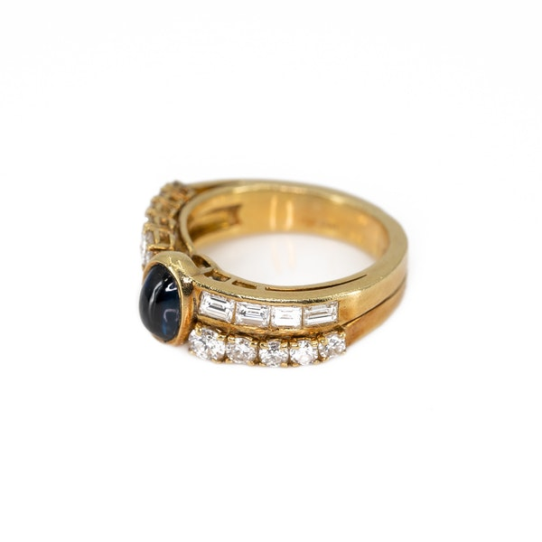 A Sapphire and Diamond Ring by Fred, Paris, Offered by The Gilded Lily - image 3