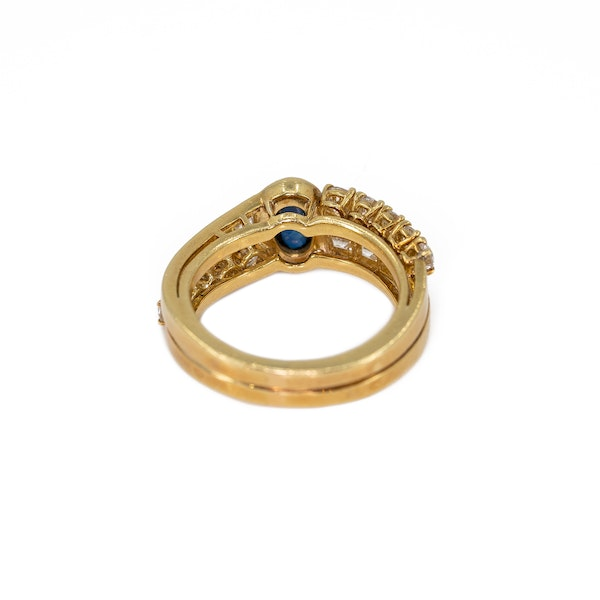 A Sapphire and Diamond Ring by Fred, Paris, Offered by The Gilded Lily - image 4