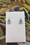 A fine pair of Emerald & Diamond Cluster Drop Earrings set in 18 Carat White & Yellow gold, Pre-owned - image 1