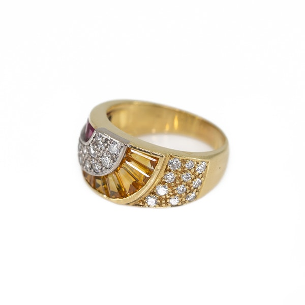 A Ruby and Citrine Ring Offered by The Gilded Lily - image 3