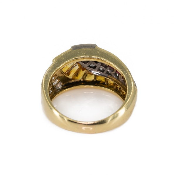 A Ruby and Citrine Ring Offered by The Gilded Lily - image 4