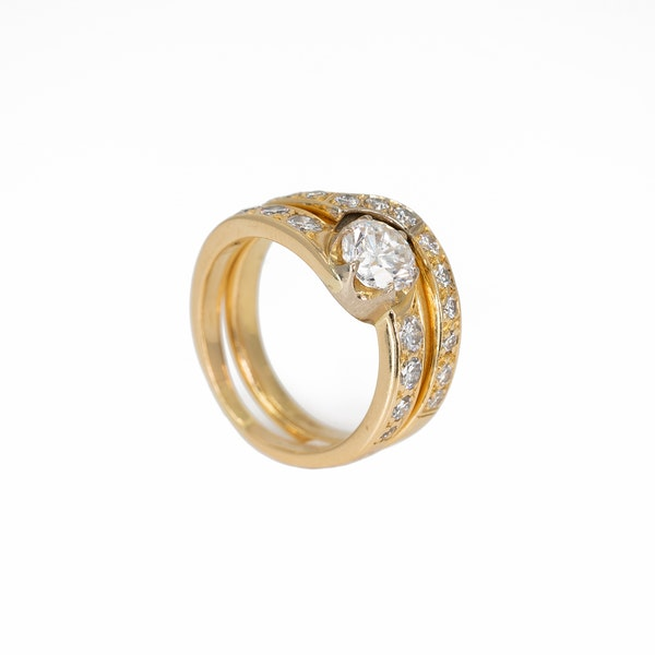 A Matching, Fitted, Engagement Ring and Wedding Band Offered by The Gilded Lily - image 2