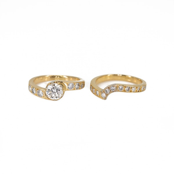 A Matching, Fitted, Engagement Ring and Wedding Band Offered by The Gilded Lily - image 4