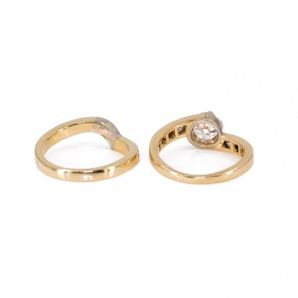 A Matching, Fitted, Engagement Ring and Wedding Band Offered by The Gilded Lily - image 5
