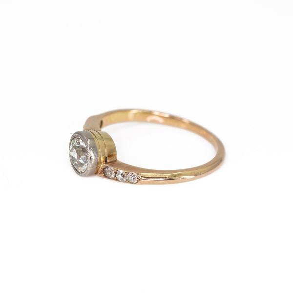 An Attractive Yellow Gold Solitaire Diamond Ring Offered by The Gilded Lily - image 2