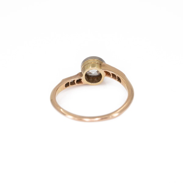 An Attractive Yellow Gold Solitaire Diamond Ring Offered by The Gilded Lily - image 3