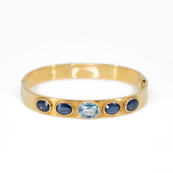 A Sapphire and Blue Topaz Necklace and Matching Bangle Offered by The Gilded Lily - image 2