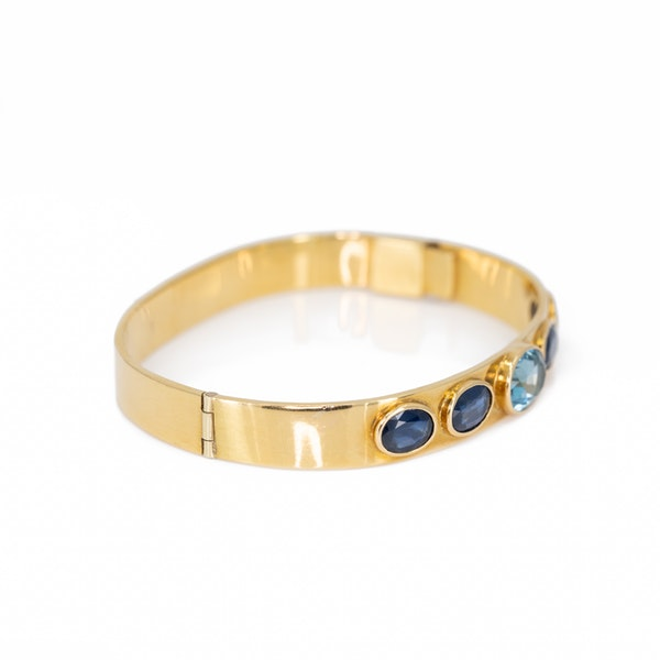 A Sapphire and Blue Topaz Necklace and Matching Bangle Offered by The Gilded Lily - image 3