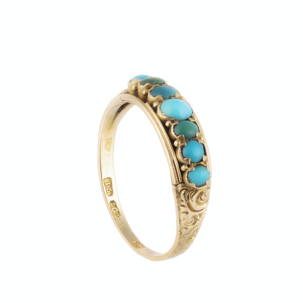 A Turquoise Gold Ring - image 2