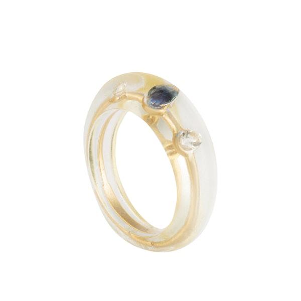 A Gold Sapphire Diamond Ring by Pascal Morabito - image 2