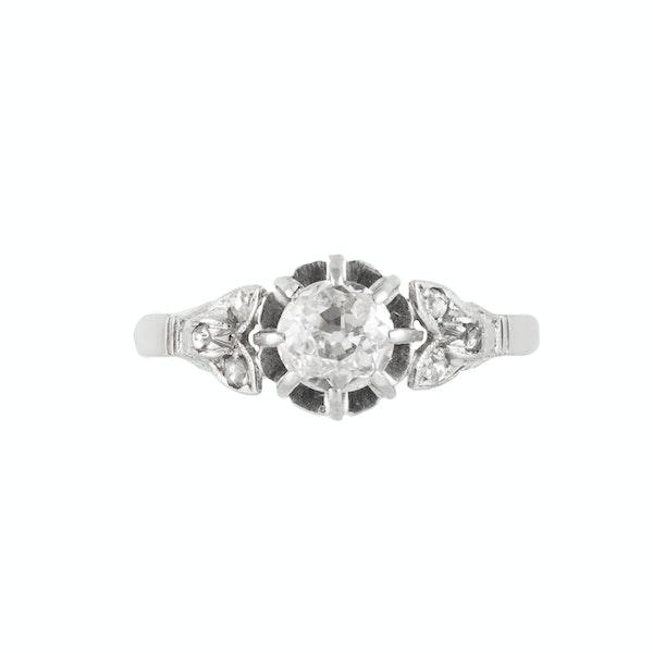 A Diamond Platinum Ring - image 3