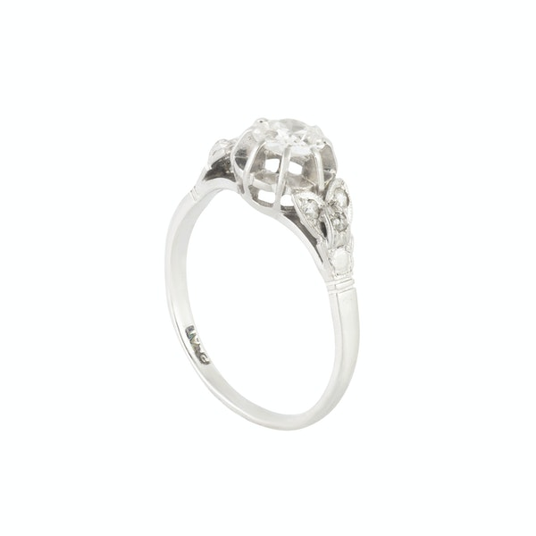 A Diamond Platinum Ring - image 4
