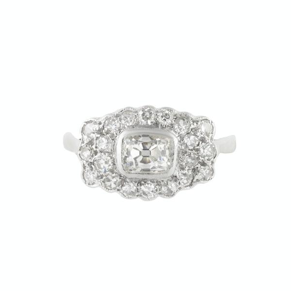 An Antique Platinum Diamond ring - image 1